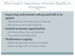 why gender importance of gender equality in pernambuco