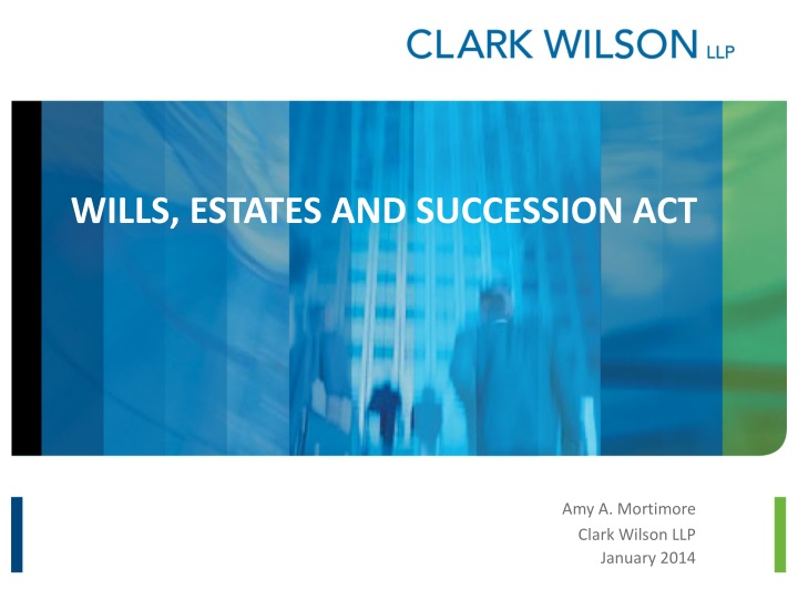 Wills estates and succession act