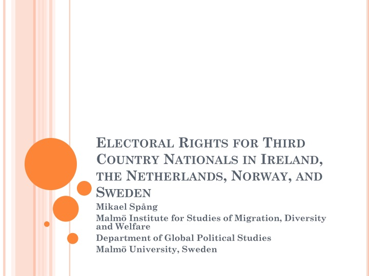 Electoral rights for third country nationals in ireland the netherlands norway and sweden