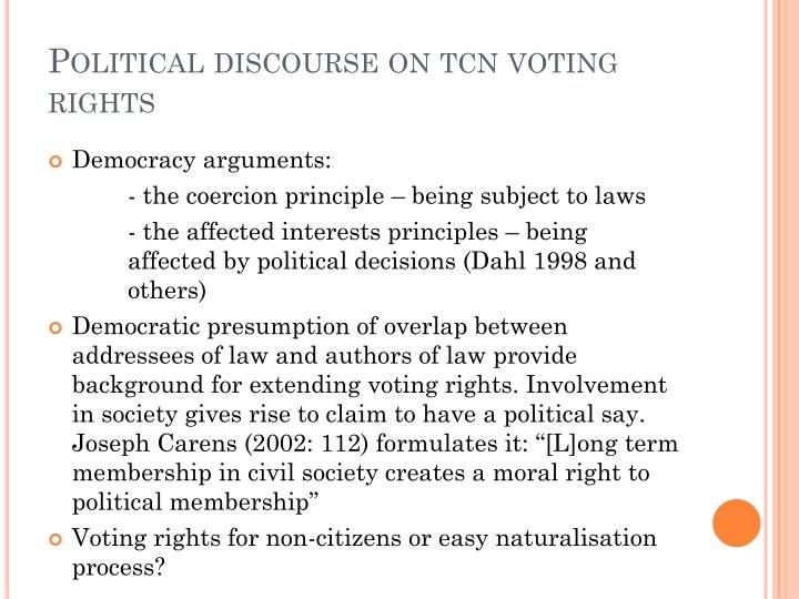 Political discourse on