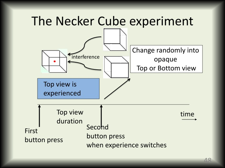 The Necker Cube experiment