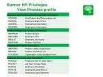 banner hr privileges view process profile