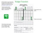 budget transfers