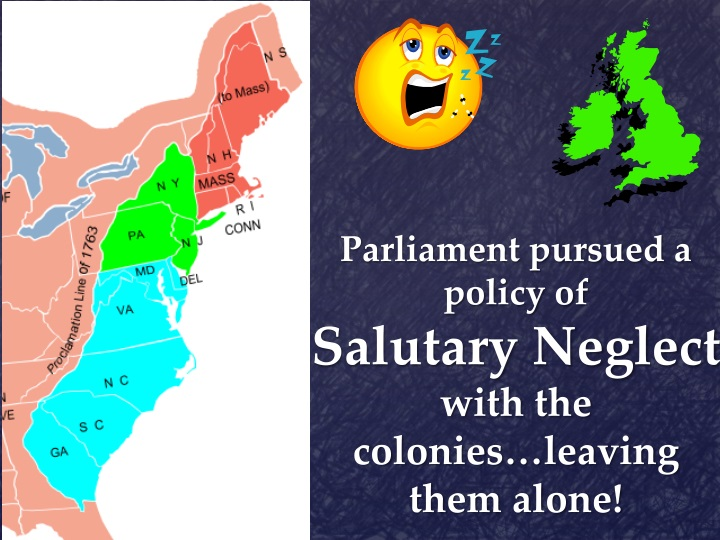 an essay on the policy of salutary neglect of the colonies