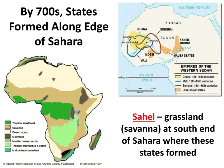 By 700s, States Formed Along Edge of Sahara