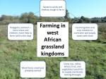 farming in west african grassland kingdoms