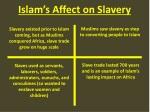 islam s affect on slavery
