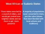 west african or sudanic states