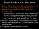 race racism and prejudice