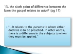 13 the sixth point of difference between the lawn the gospel relates to what pg 17