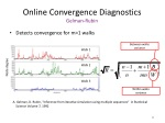 online convergence diagnostics gelman rubin