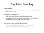 population sampling