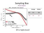 sampling bias node degree