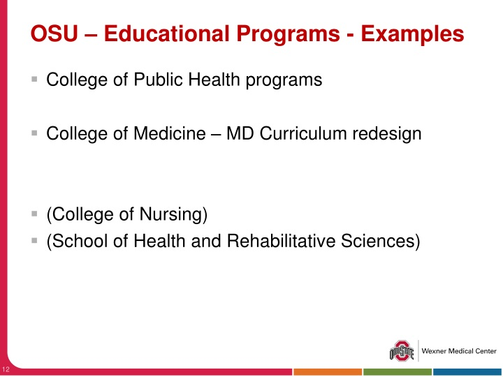 OSU – Educational Programs - Examples