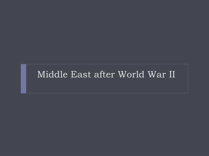Middle East after World War II