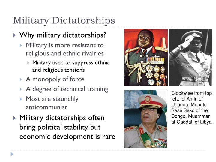 Military Dictatorships