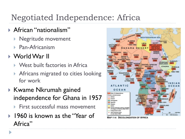 Negotiated Independence: Africa