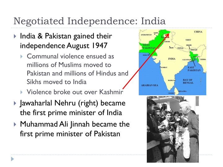 Negotiated Independence: India