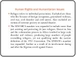 human rights and humanitarian issues5