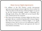 major human rights agreements