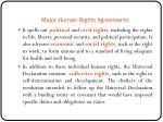 major human rights agreements1