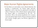 major human rights agreements5
