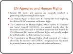 un agencies and human rights