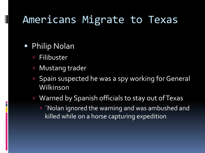 Americans Migrate to Texas