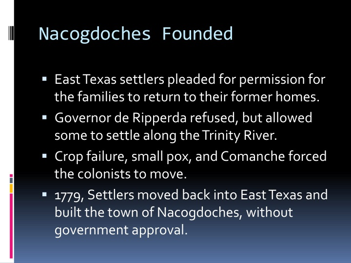 Nacogdoches Founded