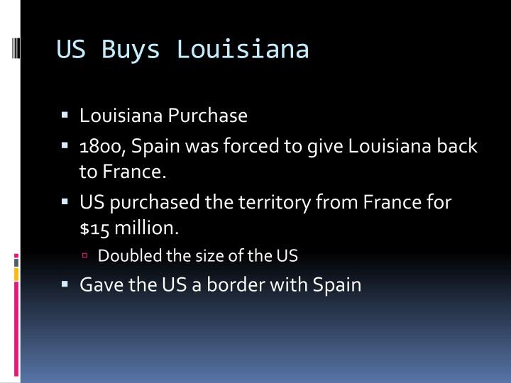 US Buys Louisiana