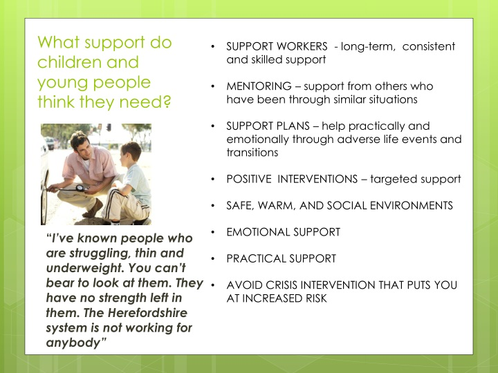 SUPPORT WORKERS  - long-term,  consistent and skilled support