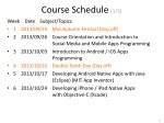 course schedule 1 3