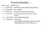 course schedule 2 3