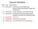 course schedule 3 3
