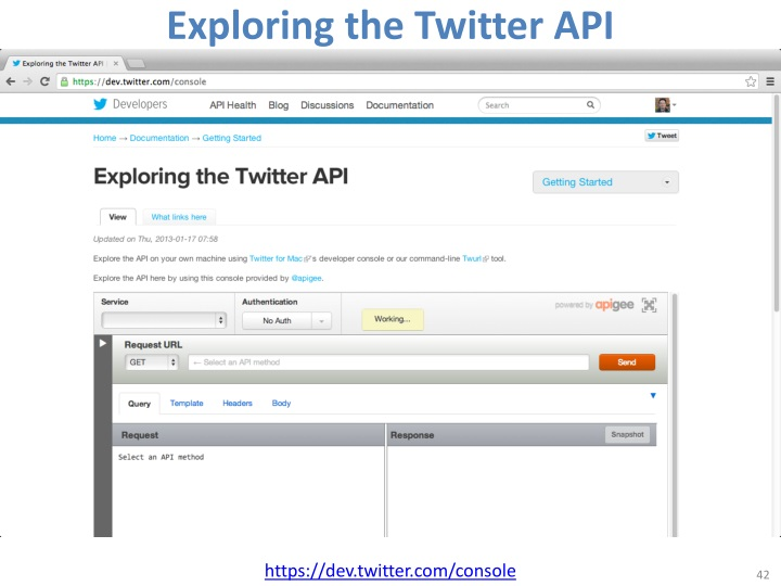 Exploring the Twitter API