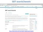 get search tweets