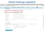 oauth settings updated