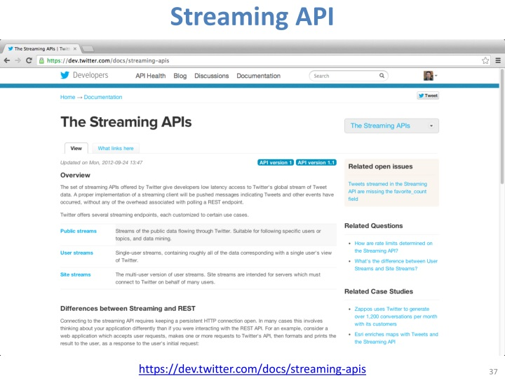 Streaming API