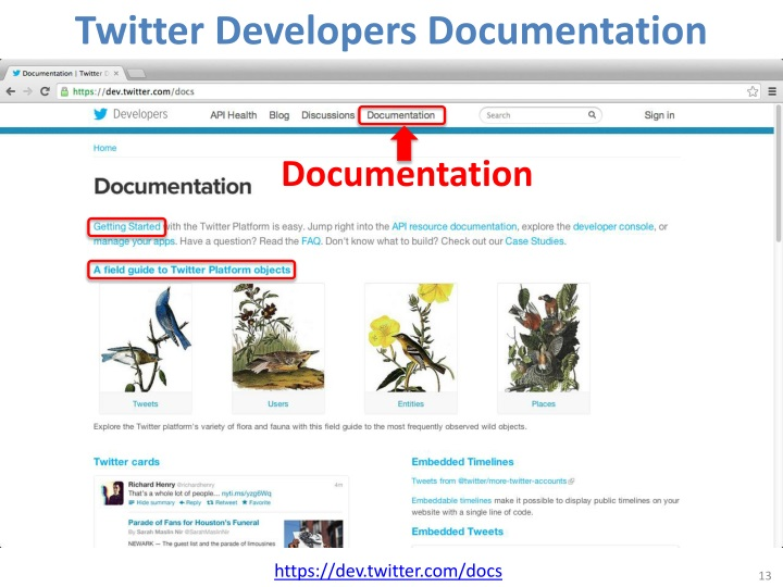 Twitter Developers Documentation