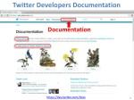 twitter developers documentation