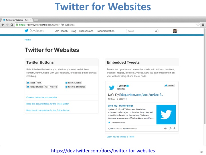 Twitter for Websites