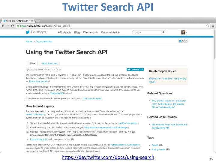 Twitter Search API