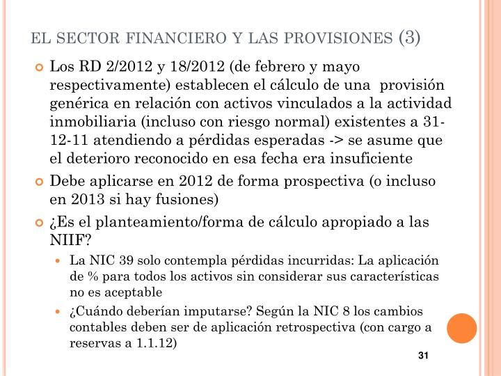 el sector financiero y las provisiones (3)