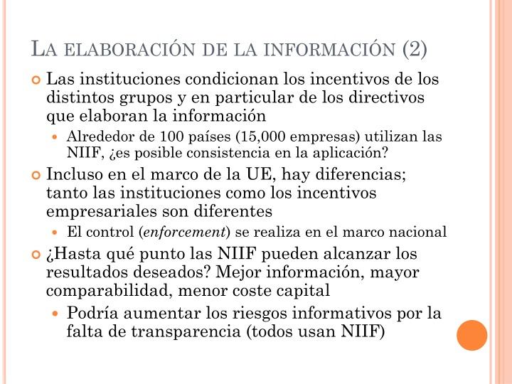 La elaboración de la información (2)