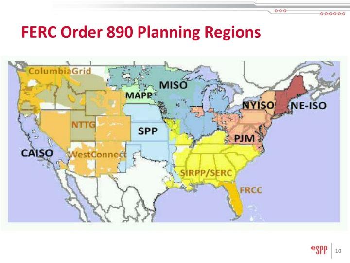 FERC Order 890 Planning Regions