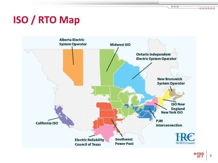 ISO / RTO Map