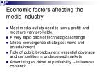 economic factors affecting the media industry