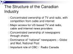the structure of the canadian industry