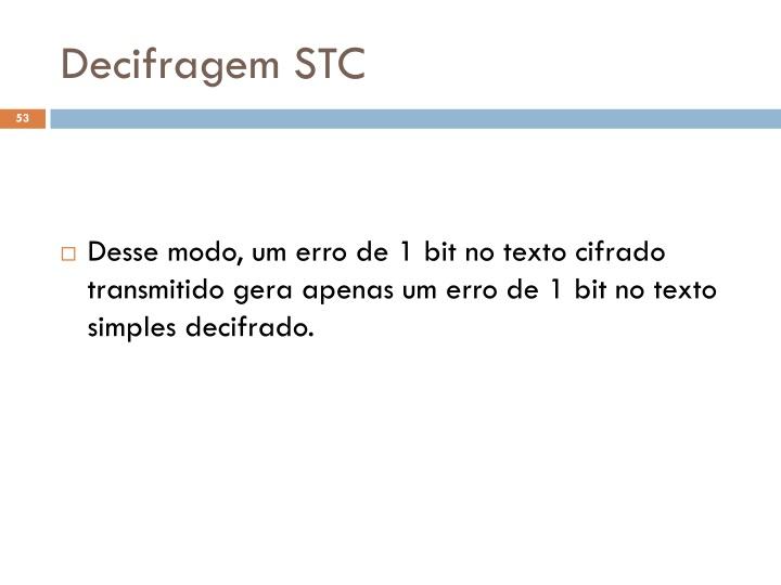 Decifragem STC