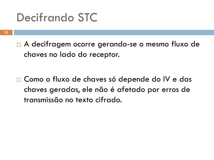 Decifrando STC